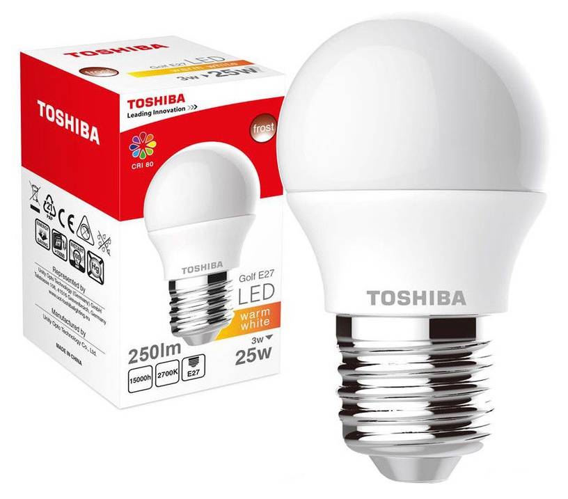 Toshiba LED Lamp 3W Warm White