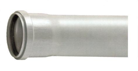 Lietaus nuotekų PVC vamzdis Bees, Ø 110 mm, 2 m