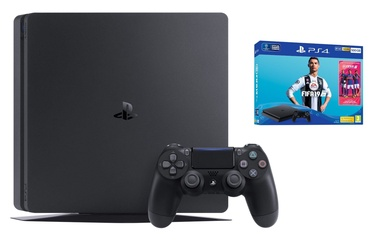 Sony Playstation 4 (PS4) Slim 500GB Black plus Fifa 19 Bundle UK