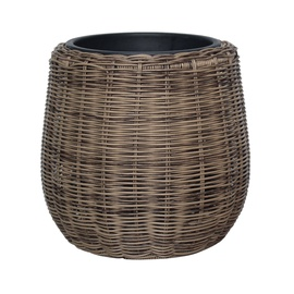 Home4you Wicker Flowerpot D28x26cm Beige