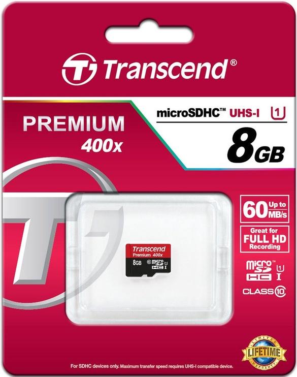 Transcend 8GB Micro SDHC Premium UHS-I Class 10