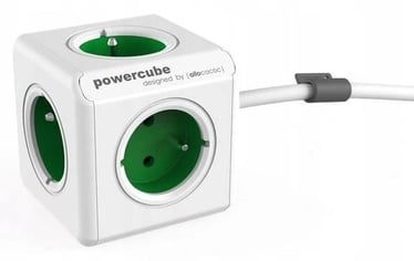 Allocacoc PowerCube Extended Type E 1.5m White/Green