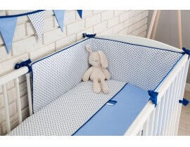 Babylove Cotton Bedding Set Blue 3pcs