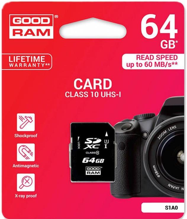 GoodRam S1A0 64GB SDXC UHS-I Class 10