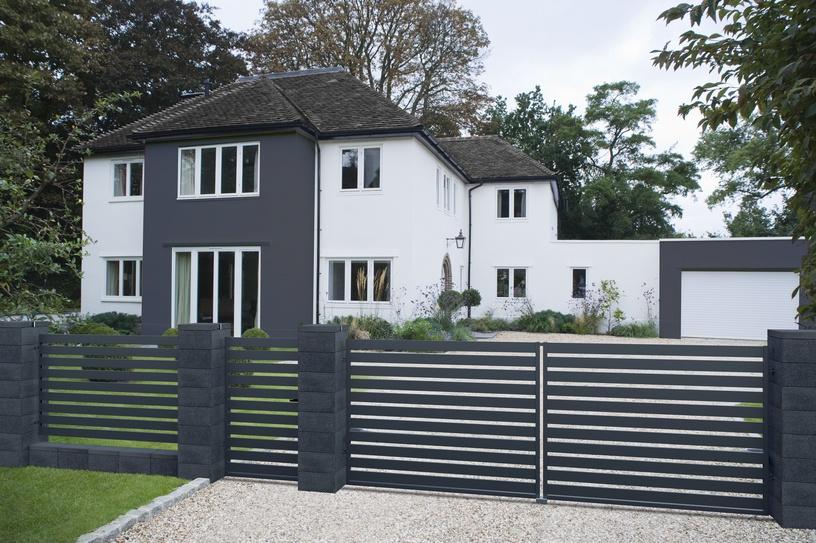 Polargos Szafir Decorative Fence 118x200cm Grey