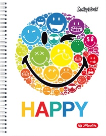 Herlitz Spiral Pad A4 SmileyWorld Rainbow 50002771