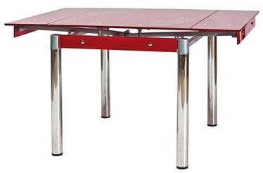 Обеденный стол Signal Meble GD-082 Red, 800-1310x800x750 мм