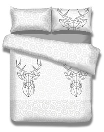AmeliaHome Snuggy My Deer Friend Bedding Set 155x220 2pcs/80x80 2pcs