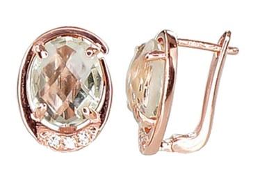Diamond Sky Gold Earrings Royal Amethyst