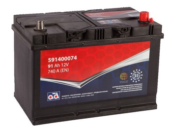 AD Baltic 591400074 Starter Battery 91Ah