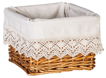 Home4you Basket Max 5 22x22xH15cm Brown Lace