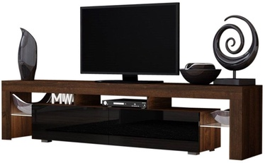 TV galds Pro Meble Milano 200 With Light Walnut/Black, 2000x350x450 mm