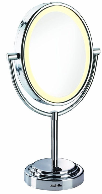 Peegel Babyliss Halo 8437E Chrome, valgustusega, teisaldatav, 18x41 cm