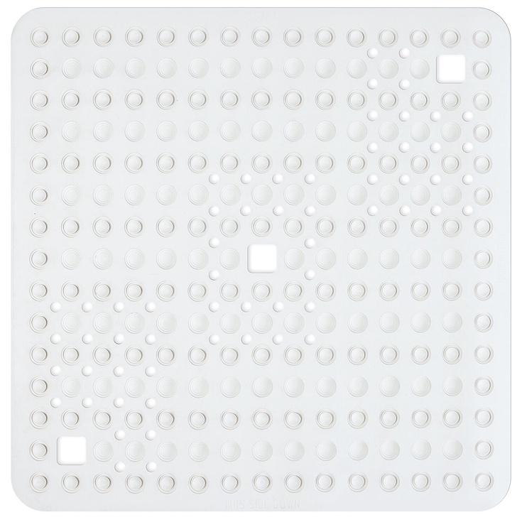 Коврик для ванной Tatkraft Detail, белый, 600 мм x 600 мм