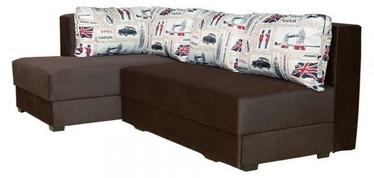 Bodzio Corner Sofa Judyta Left Velor Brown/London 1