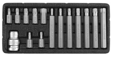 Yato YT-0417 Screwdriver Bit Set Torx Security 15pcs