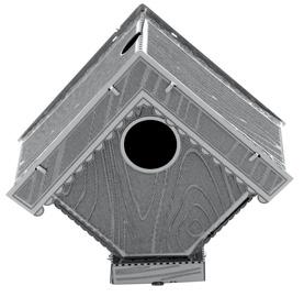 Juguetronica Fascination Metal Earth Bird House 3D Metal Model