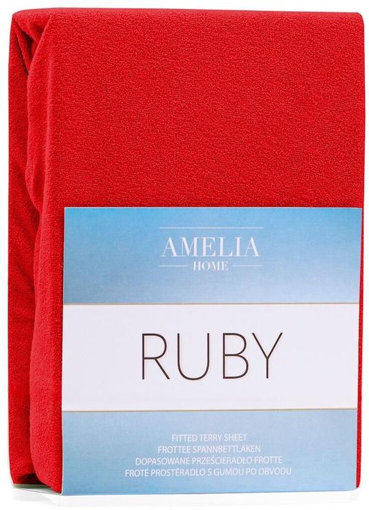 Palags AmeliaHome Ruby, sarkana, 160x200 cm, ar gumiju