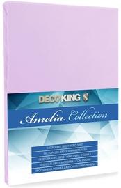 Palags DecoKing Amelia Lilac, 180x200 cm, ar gumiju