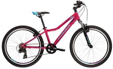 "Jalgratas Kross Lea JR 1.0, sinine/roosa/violetne, 24"""