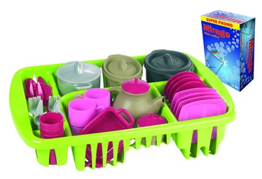 Ecoiffier ProCook Dishes In Dish Rack 8/1210S