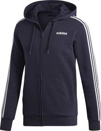Adidas Essentials 3 Stripes Fleece Hoodie DU0475 Blue S