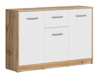 Komoda Black Red White Matos KOM3D1s Wotan Oak/White, 118.5x34x78.5 cm