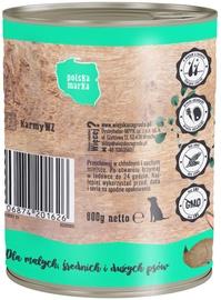 Влажный корм для собак (консервы) Wiejska Zagroda Dog Wet Food Rabbit & Turkey 800g