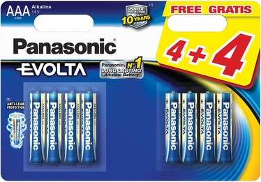 Panasonic LR03EGE Evolta 4+4 x AAA Batteries