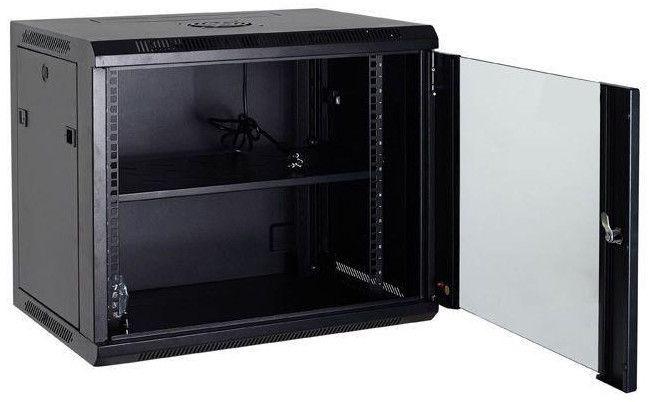 Netrack Wall Cabinet 19'' 6U/600mm Glass Black