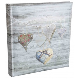 Poldom Assort Photo Album 10x15/500 Silver Hearts