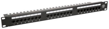 """Digitalbox Patch Panel 19"""" 1U 24-port w/ Fixed Cable Management"""