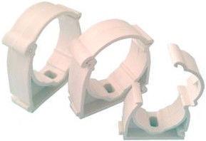Capricorn Pipe Holder Plastic White 22mm