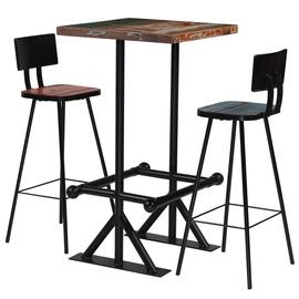 Обеденный комплект VLX 3 Piece Bar Set 245398, черный
