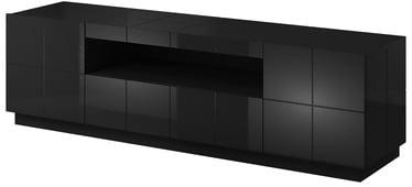 TV galds Cama Meble Reja, melna, 1840x450x575 mm