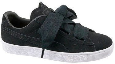 Puma Suede Heart Kids Shoes 365135-02 Black 38.5