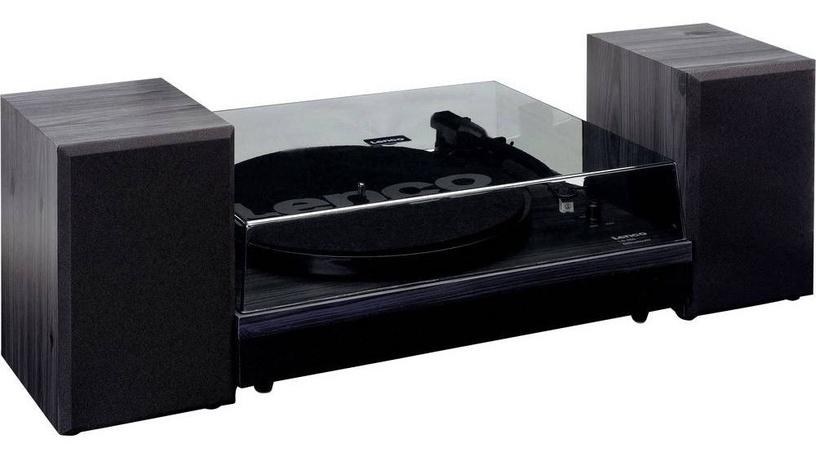 Lenco LS-300 Turntable With Separate Speakers Black