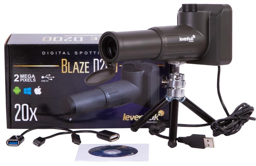 Jälgimismonokkel Levenhuk Blaze D200 Digital Spotting Scope, jahi jaoks/lindude seire jaoks/loodue seire jaoks