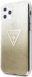 Guess Glitter Triangle Back Case For Apple iPhone 11 Pro Max Gold