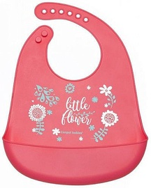 Canpol Babies Silicone Bib With Pocket Wild Nature Pink 74/023