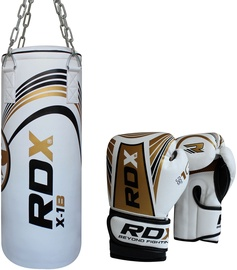 RDX Sports Kids 2FT Boxing Bag With Gloves White/Gold