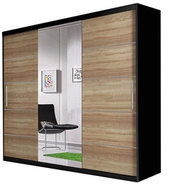 Idzczak Meble Wardrobe Astra Black/Sonoma Oak