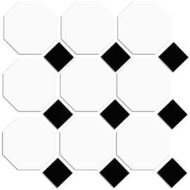 Põr.plaat 10x10 white dot black 2.32m2