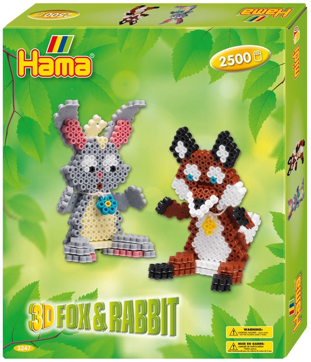 Hama Midi Beads 3D Fox & Rabbit 3247H