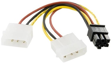 4World Cable Molex x2 / VGA 0.12m