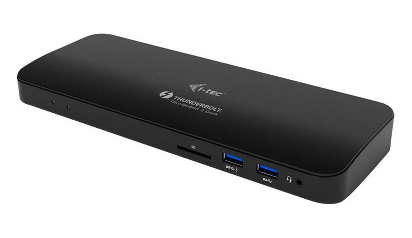 i-Tec Thunderbolt 3 Dual 4K Docking Station + USB-C to DisplayPort Adapter + Power Adapter 180W