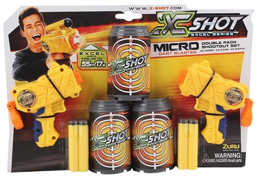 Zuru X-Shot Micro Dart Blaster Double Pack 3621
