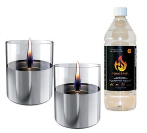 Tenderflame Lilly Table Burner Set 10cm Silver