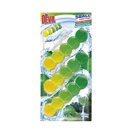 Dr.Devil Toilet Air Freshener Bicolor 5 Ball 3x35g Natur Fresh