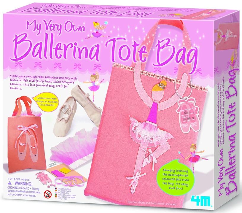 Siuvinėjimo rinkinys 4M My Very Own Ballerina Tote Bag 2759